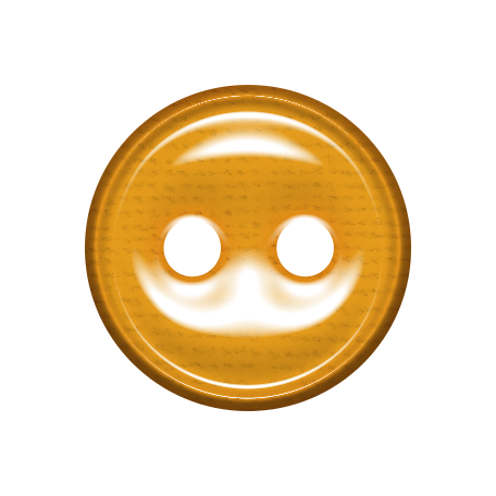 Bedouin Button - orange 2