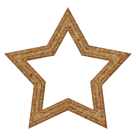 Chipboard Star Outline