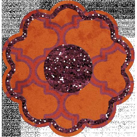 Bedouin Glitter Flower 01
