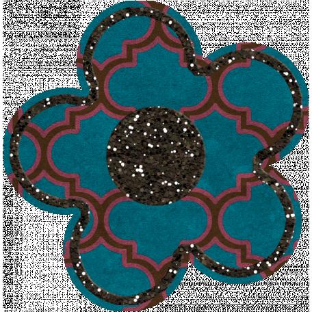 Bedouin Glitter Flower 03