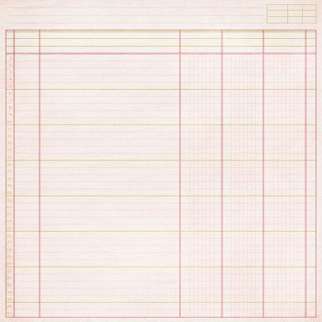 Notebook Paper 11 - Pink & Green