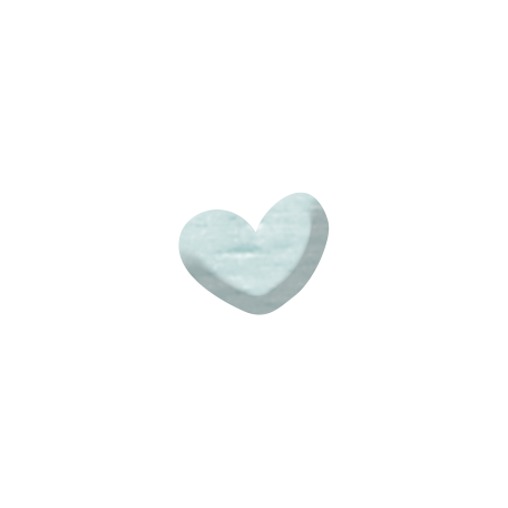Sweet Moments Heart - Light Blue