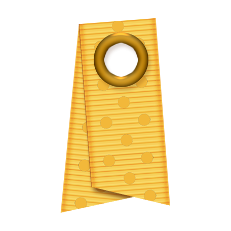 Folded Ribbon - Yellow Polka Dots