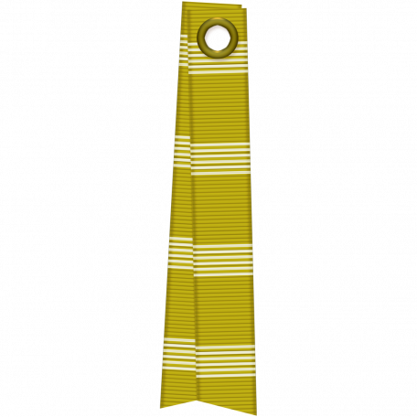 Folded Ribbon - Green Stripes