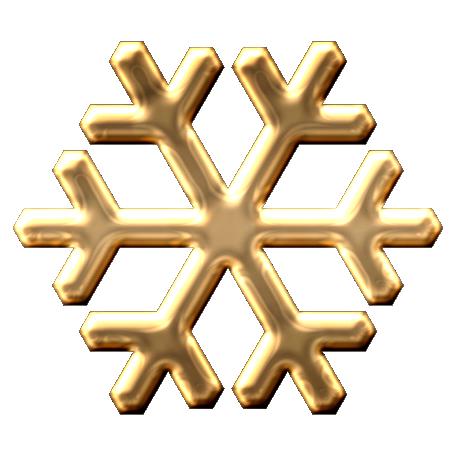 Metal Snowflake 01 - Gold