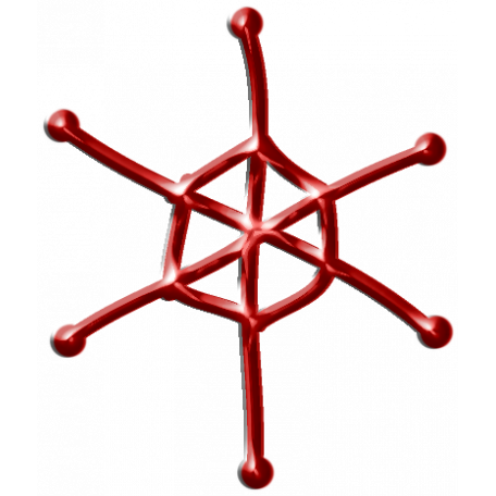 Metal Snowflake 03 - Red