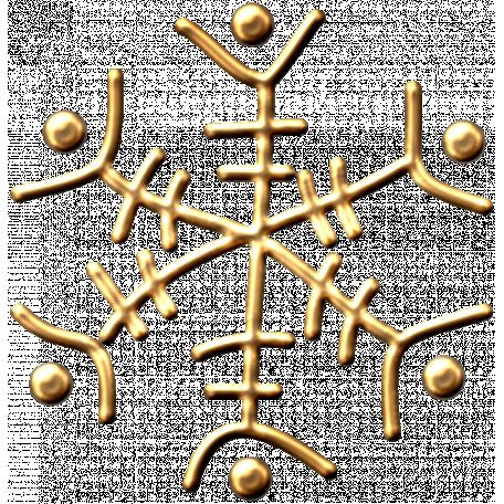 Metal Snowflake 05 - Gold