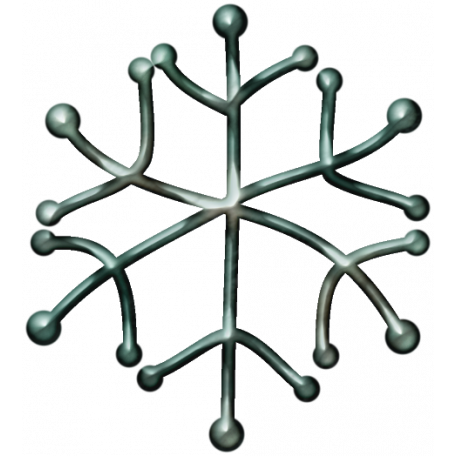 Metal Snowflake 07 - Blue