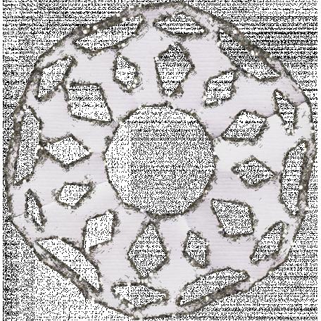 Paper Glitter Snowflake - Gray