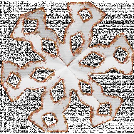 Paper Glitter Snowflake - Orange