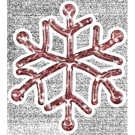 Snowflake Glitter Sticker - Pink