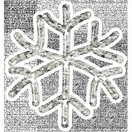 Snowflake Glitter Sticker - White