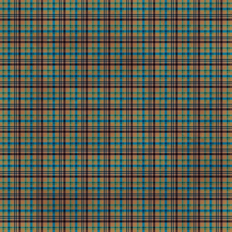 Plaid 33 Paper - Brown & Blue