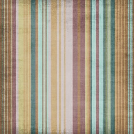 Stripes 23 - Brown, Purple & Teal