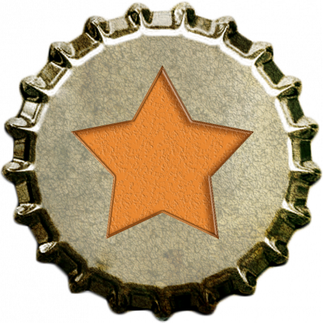 Orange Star Bottlecap