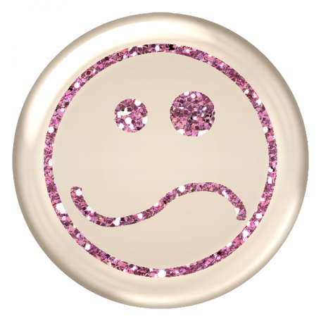 Emoticon Glitter Brad - Pink