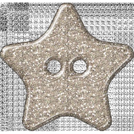 Plastic Glitter Star - Champagne