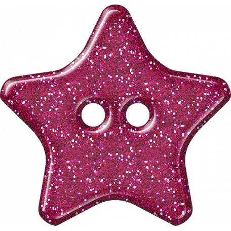 Plastic Glitter Star - Hot Pink