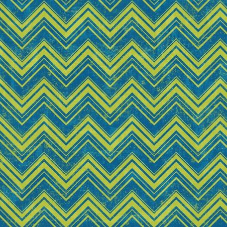 Chevron 08 Paper - Green & Blue