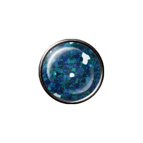 Metal Glitter Brad - Blue