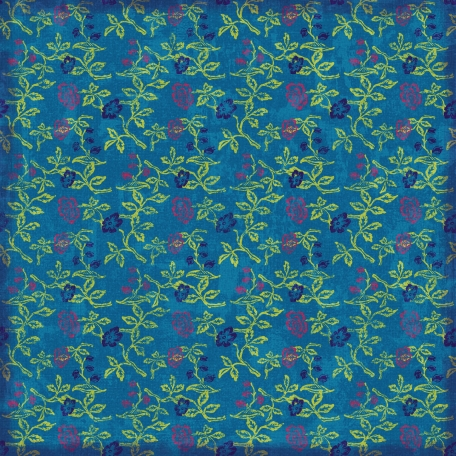 Floral Paper - Green & Blue