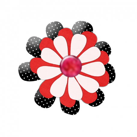 Black Red Pink Flower