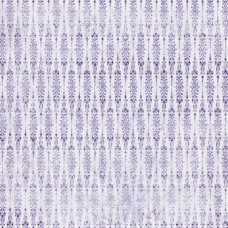 Damask 25 Paper - White & Purple