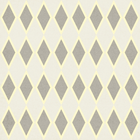 Argyle 26 Paper - Gray & Cream