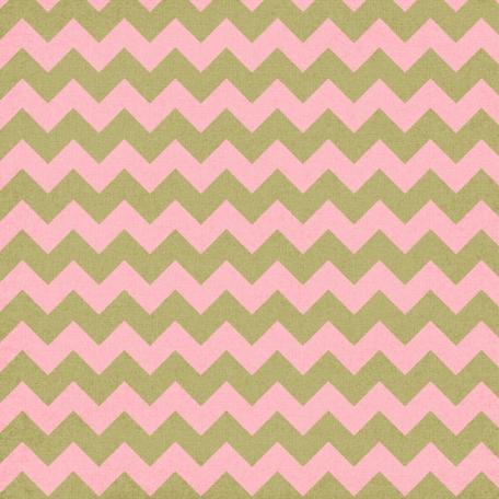 Chevron 07 Paper - Green & Pink