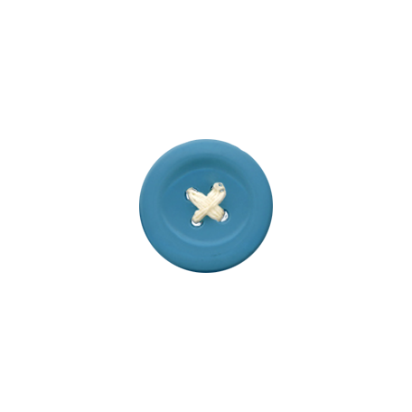 Blue Button with Stitching