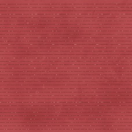 Love Me Glitter Paper - Stripes - Red