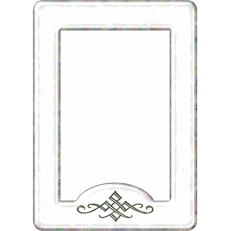 Versailles Glass Frame - White