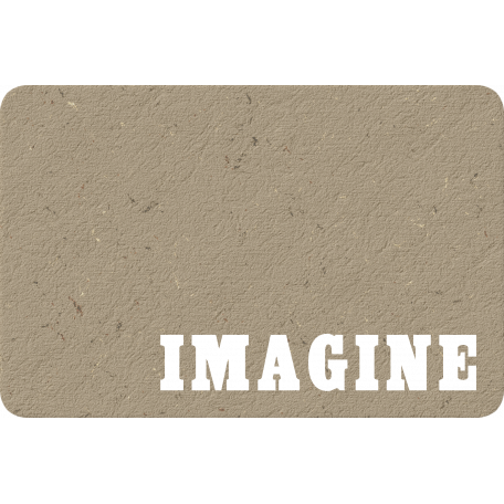 Chipboard Imagine Journal Card