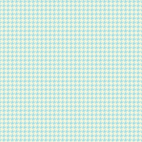 Houndstooth 01 Paper - Blue & White