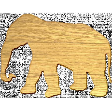 Wood Veneer Elephant