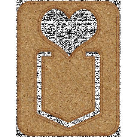 Chipboard Clip - Heart
