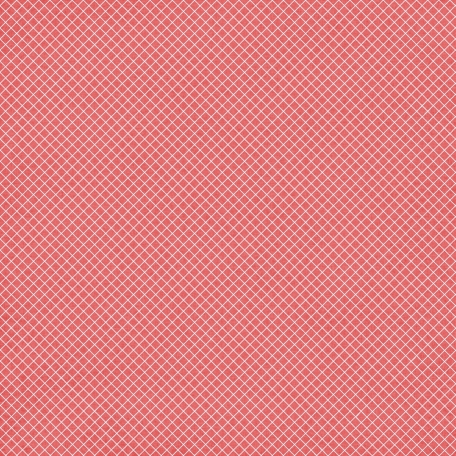 Grid 11 Paper - Coral & White