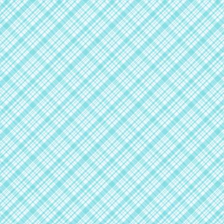 Plaid 34 Paper - Blue & White