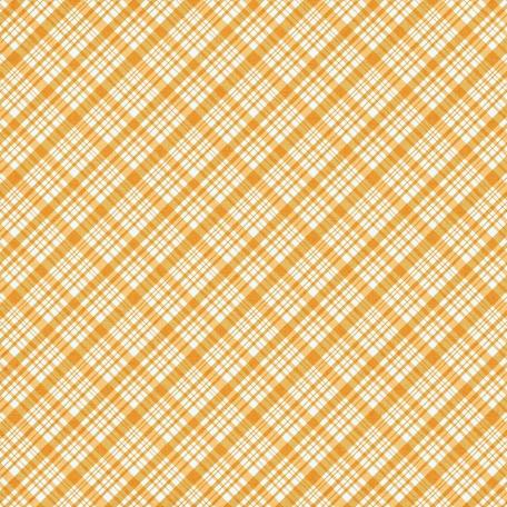 Plaid 34 Paper - Yellow & White