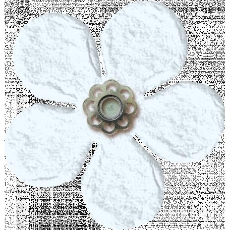 Amsterdam Small Paper Flower - White