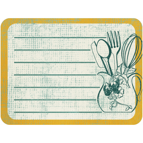 Vintage Kitchen Journal Card 04