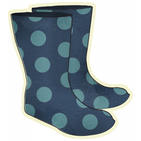 Rainy Days - Rain Boots Illustration