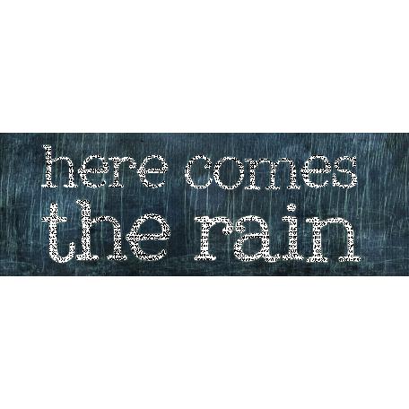 Rainy Days - Word Art 1