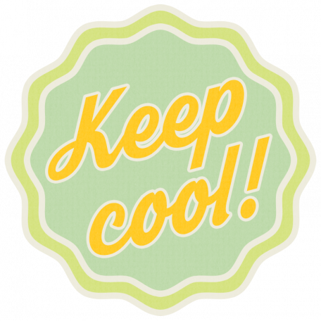 Sunshine & Lemons No2 - Keep Cool Sticker