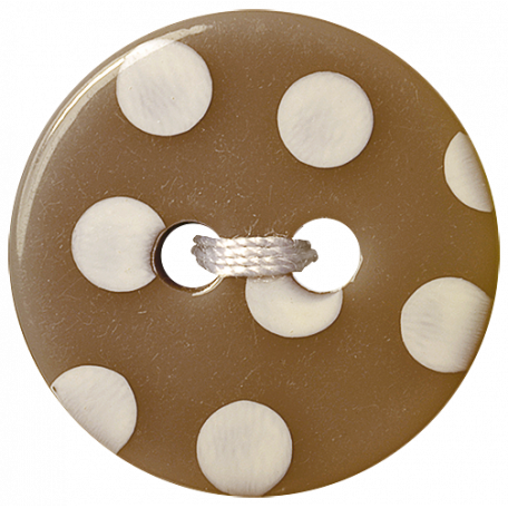 Oh Baby Baby - Brown Polkadot Button