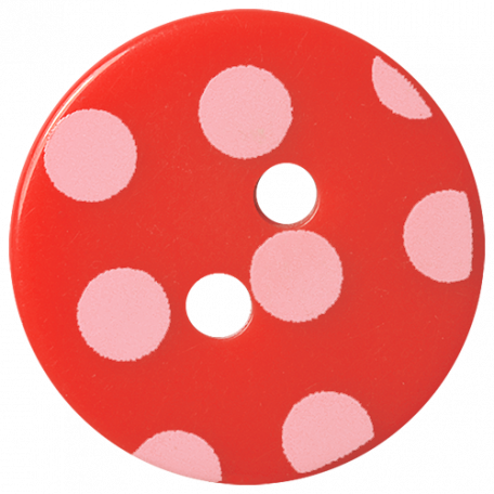 Oh Baby Baby - Red Polkadot Button