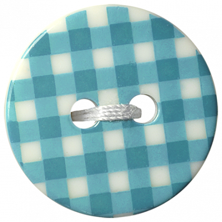 Oh Baby Baby - Blue Gingham Button
