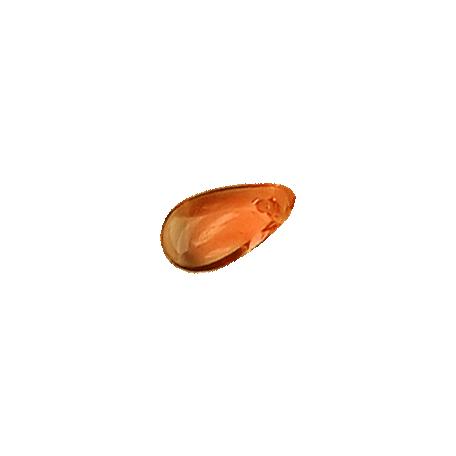 Ride A Bike Scattered Bits - Glass Teardrop Bead - Orange