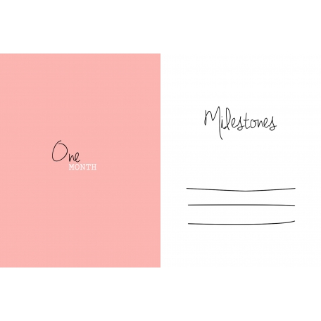 Oh Baby Baby - One Month - Milestone Card Pink 02