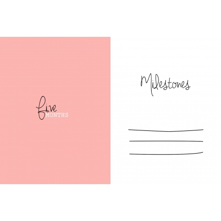 Oh Baby Baby - Five Months - Milestone Card Pink 02